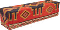 Furniture , A Kilim Covered Bench, 20th century. 18-1/4 x 71-3/4 x 17-1/2 inches (46.4 x 182.2 x 44.5 cm). ...