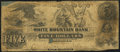 Obsoletes By State:New Hampshire, Lancaster, NH - White Mountain Bank Altered $5 Mar. 15, 1853. ...