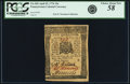Colonial Notes:Pennsylvania, Pennsylvania April 25, 1776 10 Shillings Fr. PA-205. PCGS ChoiceAbout New 58 Apparent.. ...