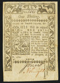 Colonial Notes:Rhode Island, Rhode Island May 1786 1s Very Fine.. ...
