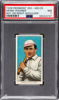Baseball Cards:Singles (Pre-1930), 1909-11 T206 Piedmont 350-460/25 Heinie Wagner (Bat On Right Shoulder) PSA NM 7. ...