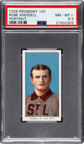 Baseball Cards:Singles (Pre-1930), 1909-11 T206 Piedmont 150 Rube Waddell (Portrait) PSA NM-MT+ 8.5 -Pop One, Two Higher! ...