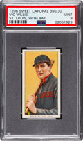 Baseball Cards:Singles (Pre-1930), 1909-11 T206 Sweet Caporal 350/30 Vic Willis (St. Louis, With Bat) PSA Mint 9 - Pop One, None Higher!. ...