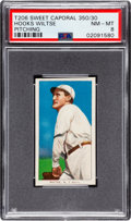 Baseball Cards:Singles (Pre-1930), 1909-11 T206 Sweet Caporal 350/30 Hooks Wiltse (Pitching) PSA NM-MT8 - Pop Four, One Higher! ...