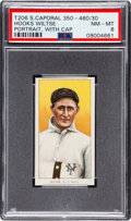 Baseball Cards:Singles (Pre-1930), 1909-11 T206 Sweet Caporal 350-460/30 Hooks Wiltse (Portrait, With Cap) PSA NM-MT 8 - Pop Two, None Higher! ...