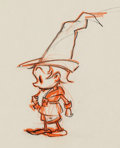 Animation Art:Production Drawing, Boy in Tall Cap Animation Drawing Original Art (Ub Iwerks, c.1930s)....