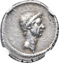 Ancients:Roman Republic, Ancients: Divus Julius Caesar (died 44 BC). AR denarius (18mm, 3.55 gm, 9h). NGC Choice XF 4/5 - 4/5, Fine Style....