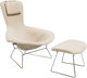 A Harry Bertoia Bird Chair and Ottoman for Knoll, designed 1952 40 x 38-1/2 x 33 inches (101.6 x 97.8 x 83.8 cm... (Tota...