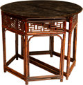 Asian:Japanese, A Pair of Japanese Console Tables, 20th century. 34 x 41 x 18-1/2inches (86.4 x 104.1 x 47.0 cm). ... (Total: 2 Items)