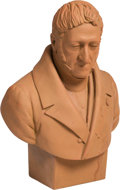 Decorative Arts, French:Other , A Continental Painted Plaster Bust of a Male Statesman. Marks:Benerech, 1856. 28 x 19 x 12 inches (71.1 x 48.3 x 30.5 c...