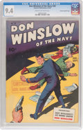Golden Age (1938-1955):War, Don Winslow of the Navy #28 Crowley Copy/File Copy (FawcettPublications, 1945) CGC NM 9.4 Cream to off-white pages....