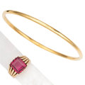 Estate Jewelry:Lots, Spinel, Gold Jewelry . ... (Total: 2 Items)