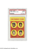 Baseball Cards:Singles (1960-1969), 1963 Topps Rookie Stars #466 PSA Mint 9. Never topped, in over 250attempts! This gorgeous specimen offering the card coll...