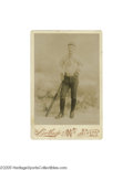 Baseball Collectibles:Photos, 1880's Baseball Player Cabinet Photograph. Collectors of nineteenthcentury baseball photography are certain to marvel at t...