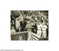 Baseball Collectibles:Photos, 1954 President Eisenhower Opening Day Large Photograph. Ikeprepares to throw out the first pitch for what is to be a thrill...