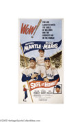 "Baseball Collectibles:Others, 1962 ""Safe at Home"" Three Sheet Movie Poster. Enormous in both physical dimensions and emotional appeal, this vintage poste..."