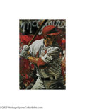 Baseball Collectibles:Others, Mark McGwire Limited Edition Giclee by Holland. This masterful artwork is a print on canvas from noted sports artist Stephe...
