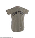 Baseball Collectibles:Uniforms, 1954 Mickey Mantle Game Worn Jersey. It was Groundhog's Day, 1954. While an expectant nation awaited the forecast on the a...