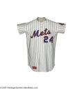 Baseball Collectibles:Uniforms, 1976 Willie Mays Game Worn Jersey. Playing-days gamers from thistop-tier Hall of Famer will remain out of reach for all bu...