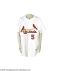 Baseball Collectibles:Uniforms, Circa 2003 Albert Pujols Game Worn Jersey. Home white gamer was always a welcome sight to the fans at Busch Stadium, where ...