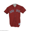 """Baseball Collectibles:Uniforms, 2004 David Ortiz Game Worn Uniform. """"Big Papi"""" challenged Reggie for the title of """"Mr. October"""" in the 2004 playoffs and Wo..."""