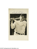 Autographs:Photos, Babe Ruth Signed Photograph. The definitive photographic image ofthe Babe serves as an ideal home for an autograph from th...