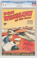 Golden Age (1938-1955):War, Don Winslow of the Navy #7 Crowley Copy Pedigree (FawcettPublications, 1943) CGC NM- 9.2 Off-white to white pages....