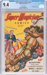 Super Magician Comics V3#3 Mile High Pedigree (Street & Smith, 1944) CGC NM 9.4 Off-white to white pages