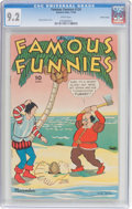 Golden Age (1938-1955):Miscellaneous, Famous Funnies #124 Central Valley Pedigree (Eastern Color, 1944) CGC NM- 9.2 White pages....