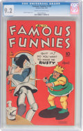 Golden Age (1938-1955):Miscellaneous, Famous Funnies #129 (Eastern Color, 1945) CGC NM- 9.2 Cream to off-white pages....