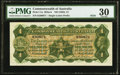 World Currency, Australia Commonwealth of Australia £1 ND (1923) Pick 11a R22bL.. ...