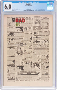 MAD #21 (EC, 1955) CGC FN 6.0 Off-white to white pages
