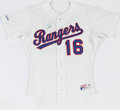 Baseball Collectibles:Uniforms, 1990 Dean Palmer Texas Rangers Signed Team Issued Jersey....