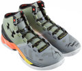 Autographs:Others, Stephen Curry Signed Under Armour Shoes. ...