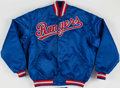 Baseball Collectibles:Uniforms, Texas Rangers Starter Team Issued Jacket. ...