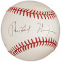 Autographs:Baseballs, President Richard Nixon Single Signed Baseball....