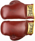 Boxing Collectibles:Autographs, Muhammad Ali Signed Boxing Gloves. ...