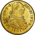Colombia, Colombia: Charles IV gold 8 Escudos 1801 P-JF XF40 NGC,...