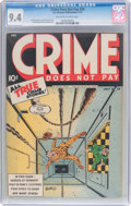 Golden Age (1938-1955):Crime, Crime Does Not Pay #34 (Lev Gleason, 1944) CGC NM 9.4 Off-white to white pages....