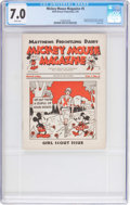 Platinum Age (1897-1937):Miscellaneous, Mickey Mouse Magazine Dairy Giveaway V1#5 (Walt Disney Productions,1934) CGC FN/VF 7.0 White pages....
