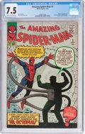 Silver Age (1956-1969):Superhero, The Amazing Spider-Man #3 (Marvel, 1963) CGC VF- 7.5 Cream tooff-white pages....