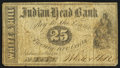 Obsoletes By State:New Hampshire, Nashua, NH - White & Hill at Indian Head Bank 25¢ Oct. 1, 1862. ...