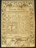 Colonial Notes:Rhode Island, Rhode Island May 1786 20s Choice About New.. ...