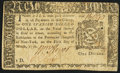Colonial Notes:New York, New York March 5, 1776 $1 Very Fine-Extremely Fine.. ...