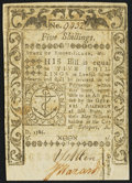 Colonial Notes:Rhode Island, Rhode Island May 1786 5s About New.. ...