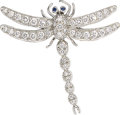 Estate Jewelry:Brooches - Pins, Diamond, Sapphire, Platinum Brooch, Tiffany & Co.. ...