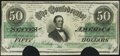 Confederate Notes:1862 Issues, T50 $50 1862 PF-19.. ...