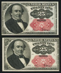 Fractional Currency:Fifth Issue, Fr. 1309 25¢ Fifth Issue Choice About New. Two Examples.. ...(Total: 2 notes)