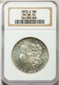 Morgan Dollars: , 1878-S $1 MS64 Prooflike NGC. NGC Census: (712/226). PCGS Population: (553/171). CDN: $193 Whsle. Bid for problem-free NGC/...
