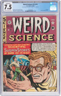 Golden Age (1938-1955):Science Fiction, Weird Science #12 (#1) (EC, 1950) CGC Conserved VF- 7.5 Cream tooff-white pages....